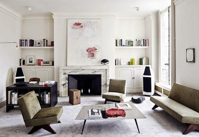 Home office in a Paris home by Joseph Dirand