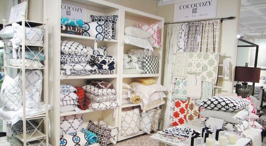 COCOCOZY display corner at the Christian Mosso & Associates showroom in Atlanta