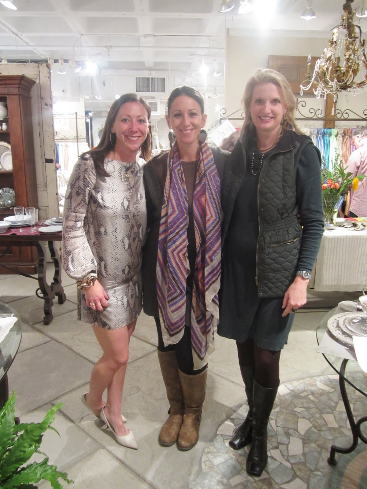 Kendra H Showroom Manager Nicole W And Owner Laura Mosso Take A Moment To Catch Up During The Busy Day Above