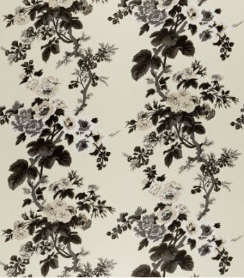Pyne Hollyhock Chintz from Schumacher