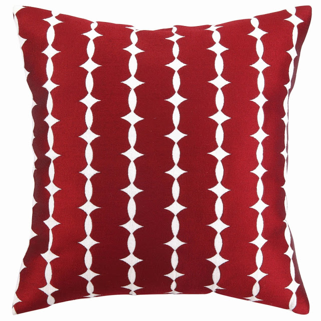 COCOCOZY Wellesley Embroidered Pillow in burgandy