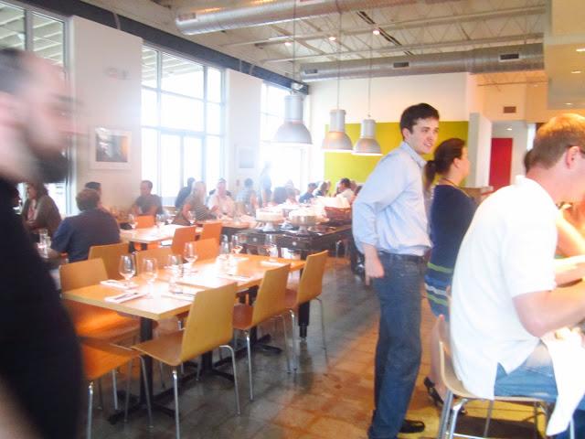 People eating and mingling at Bocado