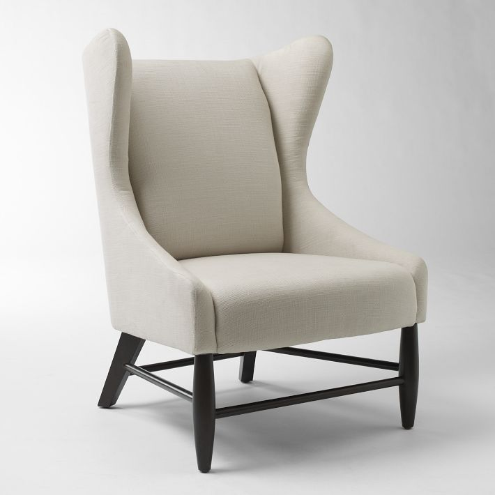 Merveilleux West Elm U2013 Ellery Chair U2013 $499 (Wingback Chair With Soft Curves, Solid Wood  Legs With Chocolate Stain Finish)(above)