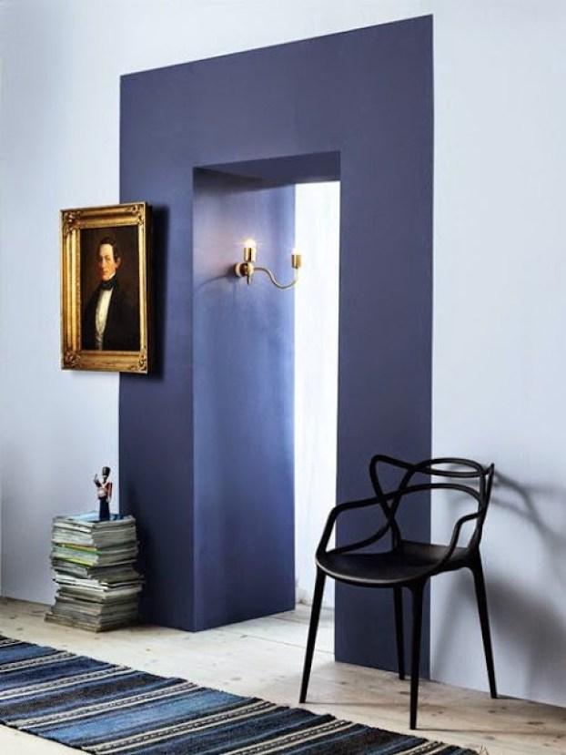 blue rooms doorway color block two toned