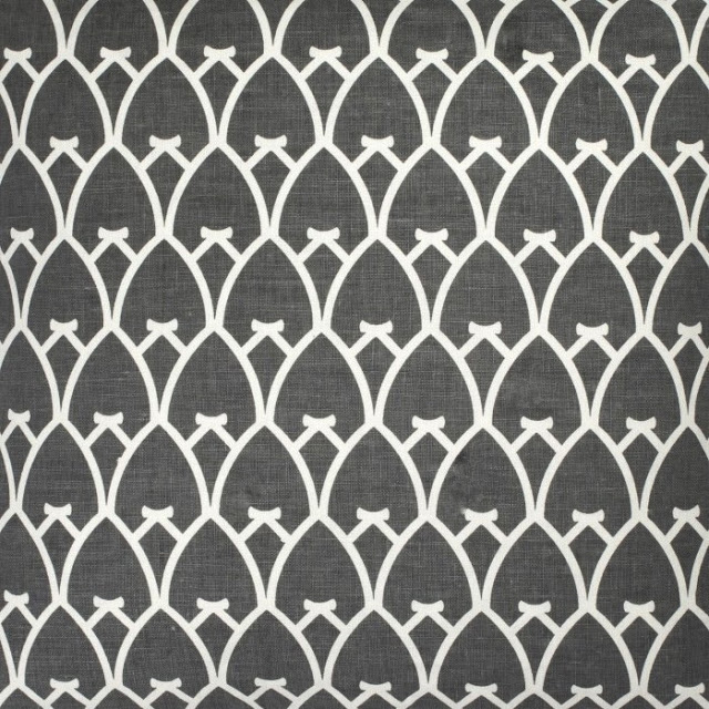 COCOCOZY Arch charcoal gray linen fabric by yard textiles home decor furnishings upholstery