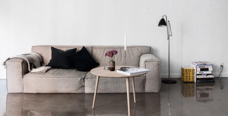 Glossy Concrete Floors In Small Copenhagen Apartment