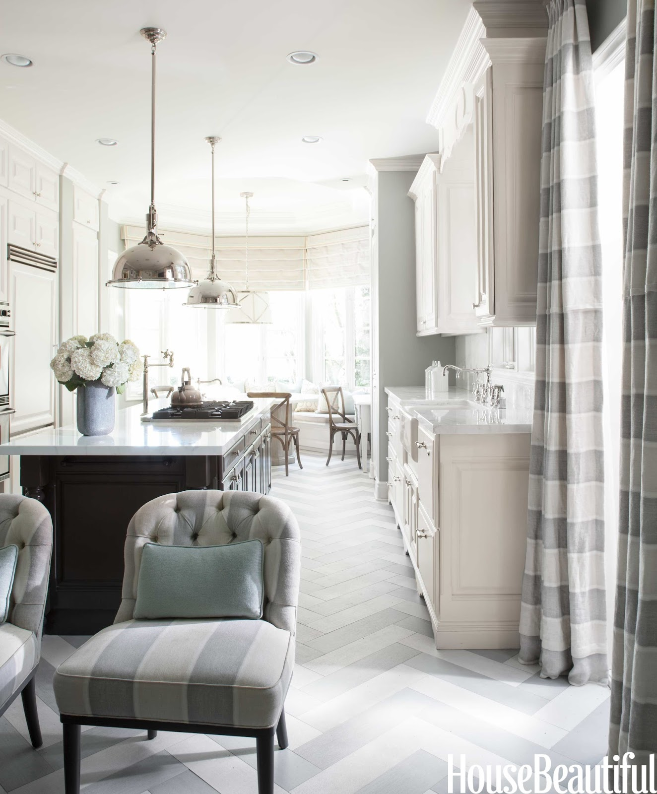 Herringbone Kitchen Floor Designer Mary Mcdonald Cleanses The Color Palette House