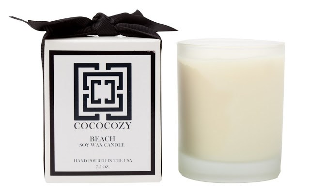 COCOCOZY Beach Candle and it's box