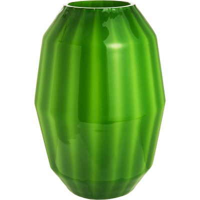 Green glass blown Venini Arillo vase