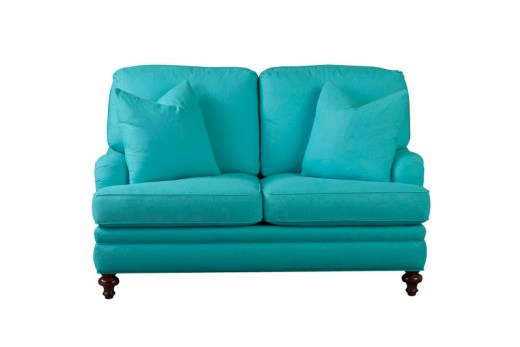 T Cushion Loveseat in Turquoise by Lilly Pulitzer