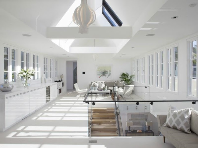 penthouse pacific heights home house bright sunny white wood floors skylights windows home office game room interior design real estate