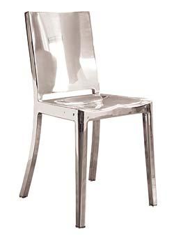 Phillipe Starck Designed Aluminum Side Chair
