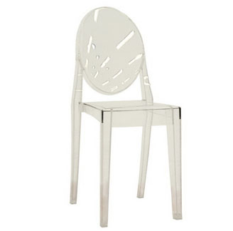 Clear Acrylic Side Chair Oval Back From Modern Dose