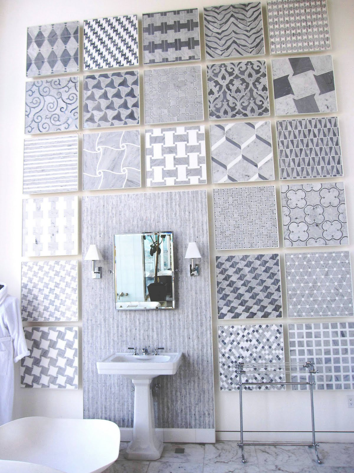 Tile file water works to cut intricate marble mosaic tiles cococozy mosaic tiles from aqualinea by waterworks dailygadgetfo Image collections