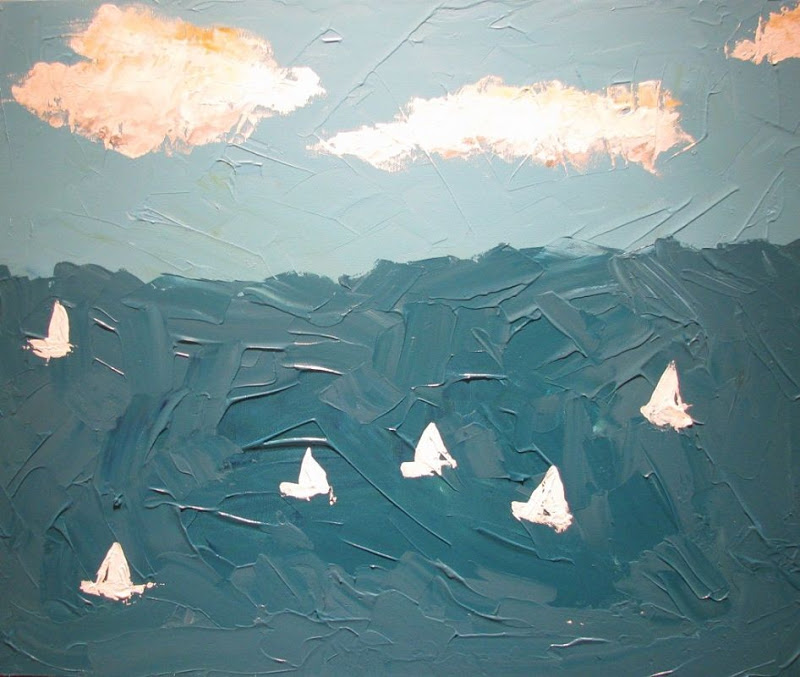 Original painting of sailboats by Bethany Dirksen