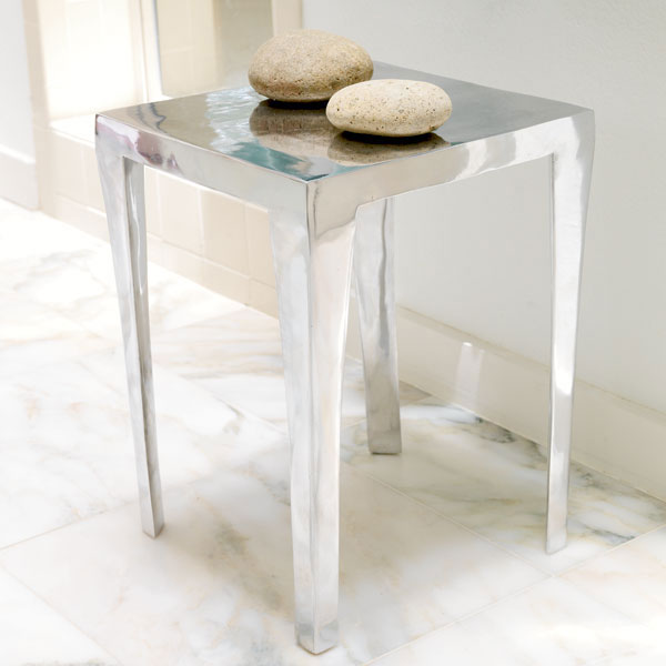 Aluminum Side Table From Wisteria