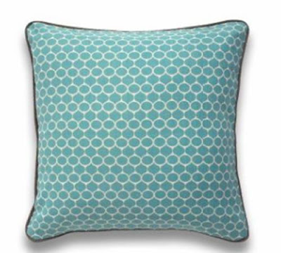 Blue silkscreen pillow from Jonathan Adler
