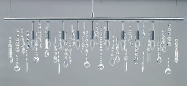 Cheap To Chic Straight To The Point On A Linear Crystal Chandelier Cococozy