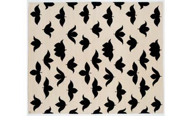 Black and white wool rug from Madeline Weinrib