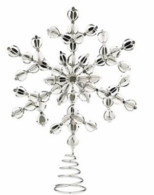 Star shaped Christmas tree topper from Crate & Barrel
