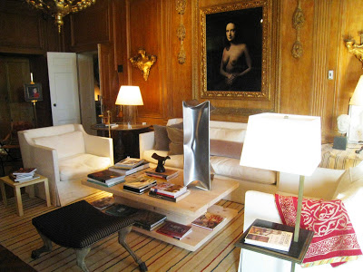 Wood paneled Drawing Room in the Greystone mansion by designer Richard Shapiro