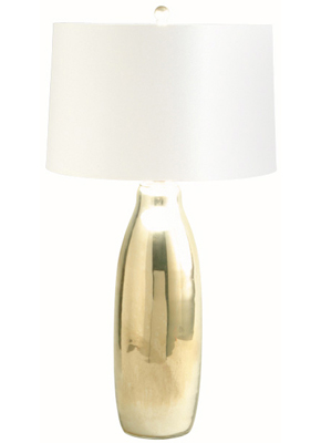 Mercury Glass Milk Bottle Table Lamp from Maison Luxe