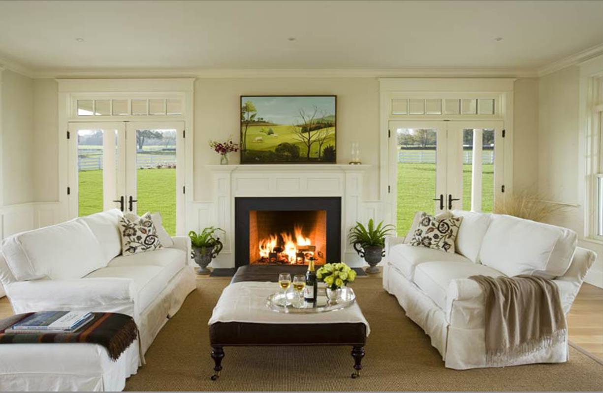 25 Fireplace Mantels With Windows On Each Side And Window