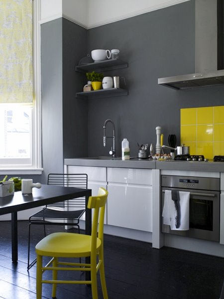 KITCHEN WEEK: A BURST OF LEMON YELLOW ADDS ZEST TO A DARK GREY ... on painting ideas for kitchens, table ideas for kitchens, microwave ideas for kitchens, window ideas for kitchens, pantry ideas for kitchens, storage ideas for kitchens, granite ideas for kitchens, paint ideas for kitchens, lighting ideas for kitchens, ceiling ideas for kitchens, wallpaper ideas for kitchens, crown molding ideas for kitchens, island ideas for kitchens, home ideas for kitchens, interior ideas for kitchens, sink ideas for kitchens,