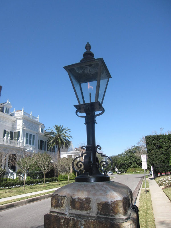 Lamppost outside the Wedding Cake House in New Orleans