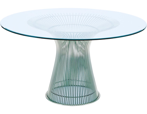 Steel and glass dining table from hive