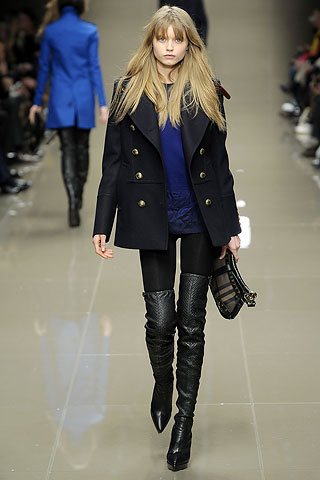 model from Burberry Prorsum's 2010 Fall Ready-to-Wear fashion show