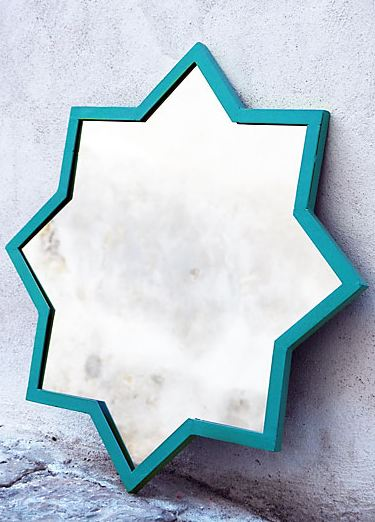 Star mirror in turquoise