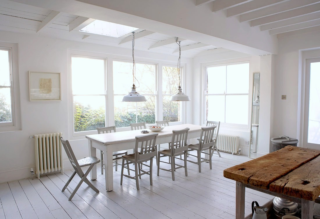 MODERN COUNTRY - SHABBY MEETS CHIC IN A WHITE RUSTIC KITCHEN!   COCOCOZY