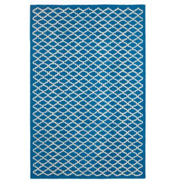 Blue and white rug from Ballard Designs