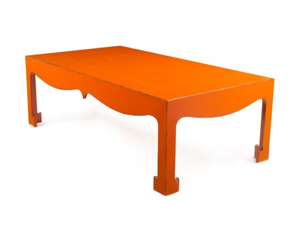 Orange coffee table from Niv Designs
