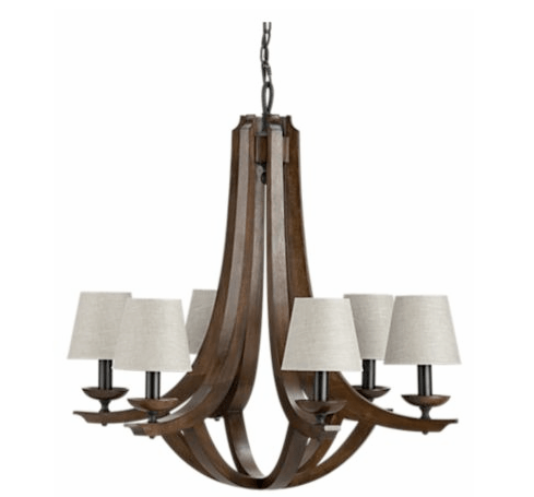 six arms on a inspired lighting fixture from crate u0026 barrel