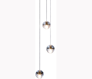 Three glass bubble pendant lights designed by Omer Arbel for Bocci from The Conran Shop