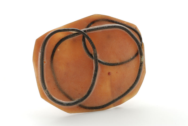 Coco Dunmire - Untitled. Brooch. Resin, silver 925, iron, steel, pigment.