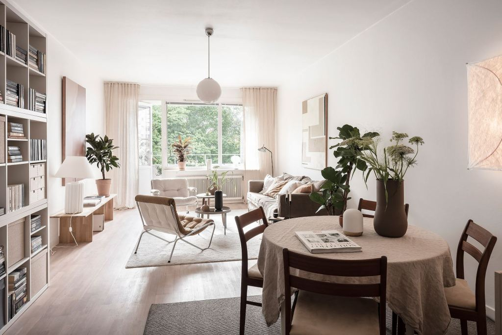 A simple home with warm tints