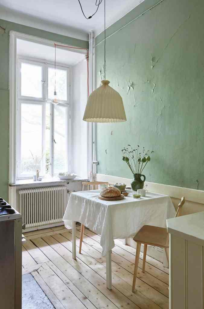 Fresh green in an old kitchen