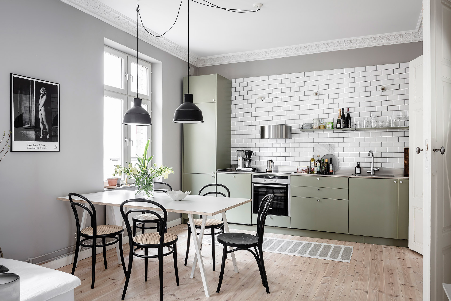 Gorgeous Grey Home With An Olive Kitchen Coco Lapine Designcoco Lapine Design