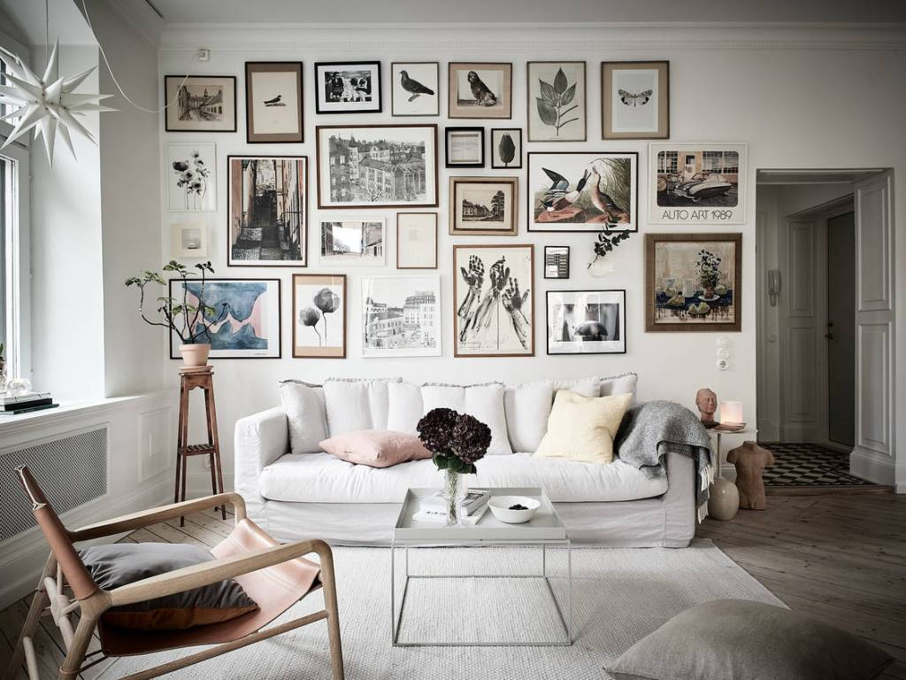 Cozy white home with a classic style