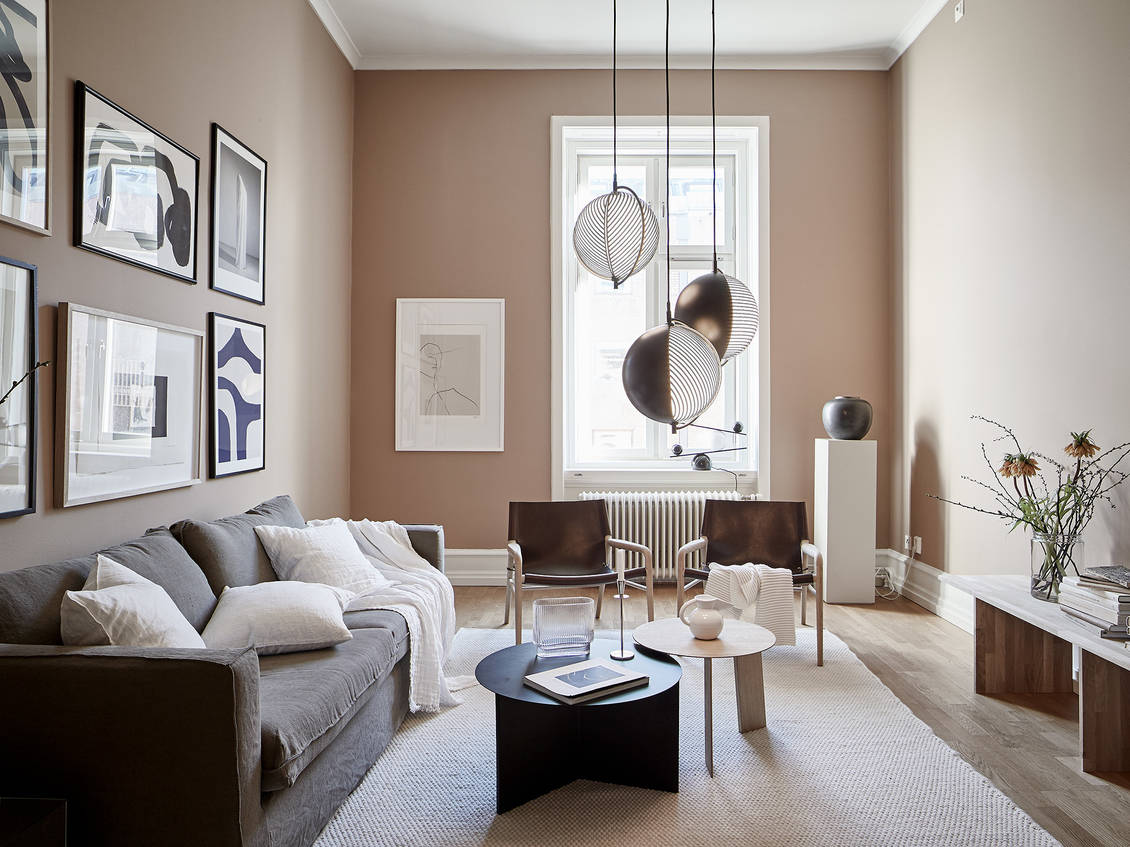 Beautiful Nude Pink Living Room