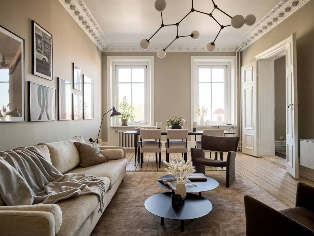 Beige home with brown accents