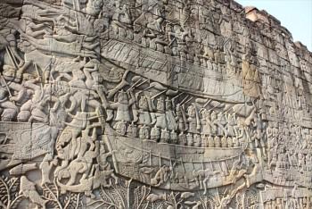 ■アンコールトム遺跡群 バイヨンのレリーフ