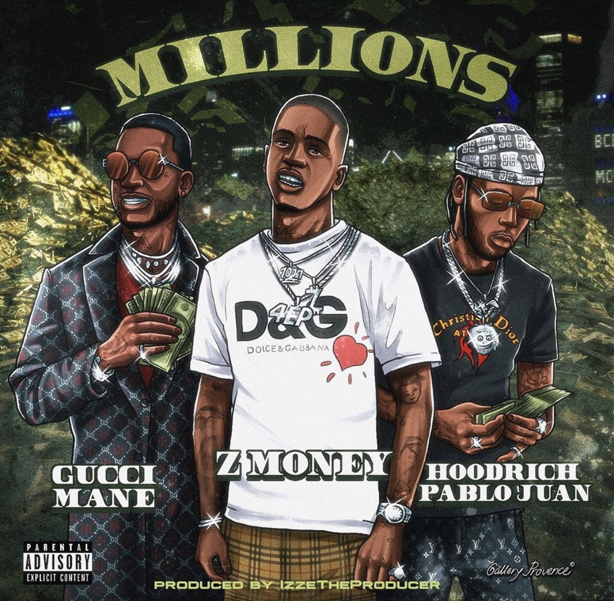 Z Money, Gucci and Hoodrich Pablo Juan link for 'Millions'