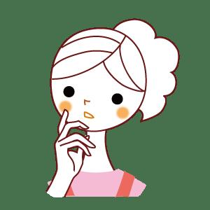 悩む女性イラスト