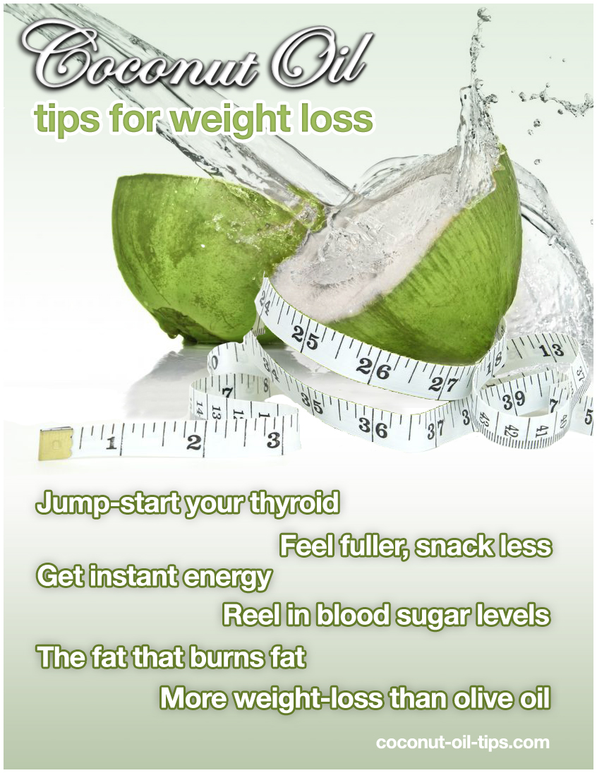 Coconut Oil Weight Loss Infographic