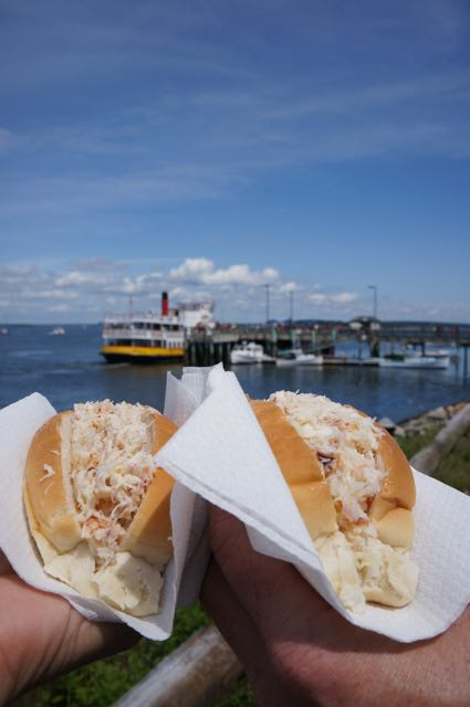 Lobster Rolls in Long Island, Maine, USA. Photo: Eeva Routio.