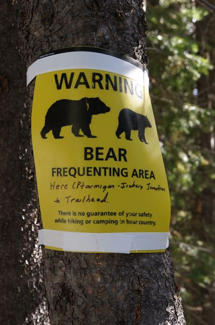 Bear warning, Glacier National Park, Montana, USA. Photo: Eeva Routio.